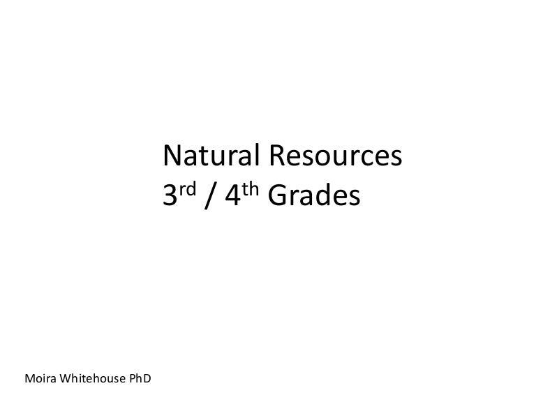 Natural Resources 3rd 4th Grades Teach