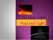 Natural science heat and light