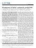 Measurement of Jupiter's asymmetric gravity field