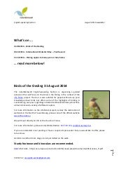Natur&emwelt English Speaking Section Newsletter August 2014