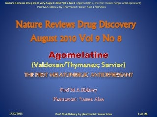 Nature reviews drug discovery august 2010 vol 9 no 8 by Prof. Yasser Alaa
