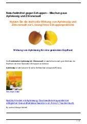 Naturheilmittel gegen Schuppen – Mischung aus Apfelessig und Zitronensaft