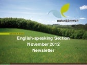 natur&ëmwelt English-speaking Section Newsletter 2012 11