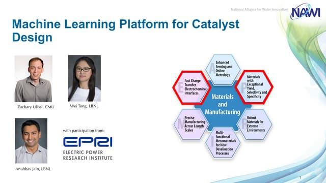Machine Learning Platform for Catalyst Design