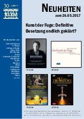 Neuheiten aus dem NAXOS Deutschland Vertrieb am 26. Mai 2017