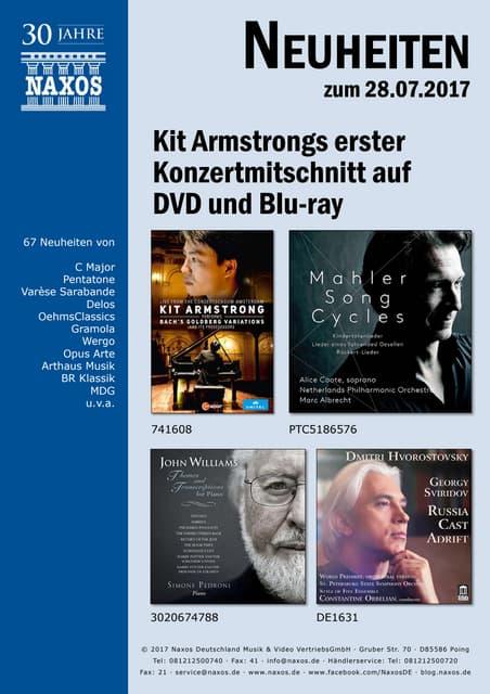 Neuheiten aus dem NAXOS Deutschland Vertrieb am 28. Juli 2017