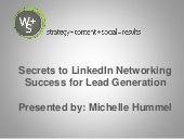 Nba secrets to linked in networking success for lead generation