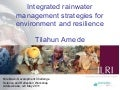 Integrated rainwater management strategies for environment and resilience