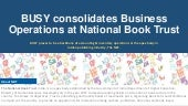 BUSY consolidates Business Operations at National Book Trust