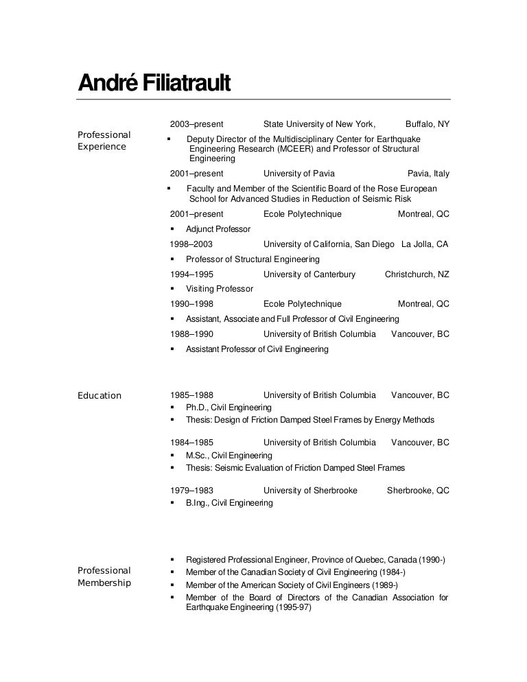 Fine Vancouver Civil Engineering Resume Ornament - Administrative ...