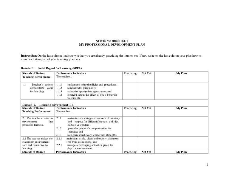NCBTS Worksheet