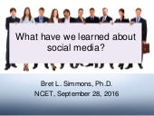 Ncet social media what have we learned sept 2016