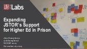 Expanding JSTOR's Support for Higher Education in Prison - NCHEP 2019