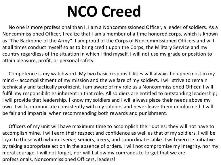 NCO Creed
