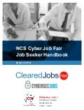 NCS Cyber Job Fair Job Seeker Handbook, June 7, 2017, Huntsville, Alabama