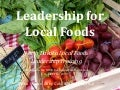 North Dakota Leadership for Local Foods