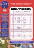 Alfa Travel Late Availability North East Departures 15th Feb - 29-March 2010