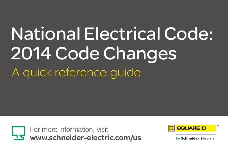 National Electrical Code: 2014 Code Changes