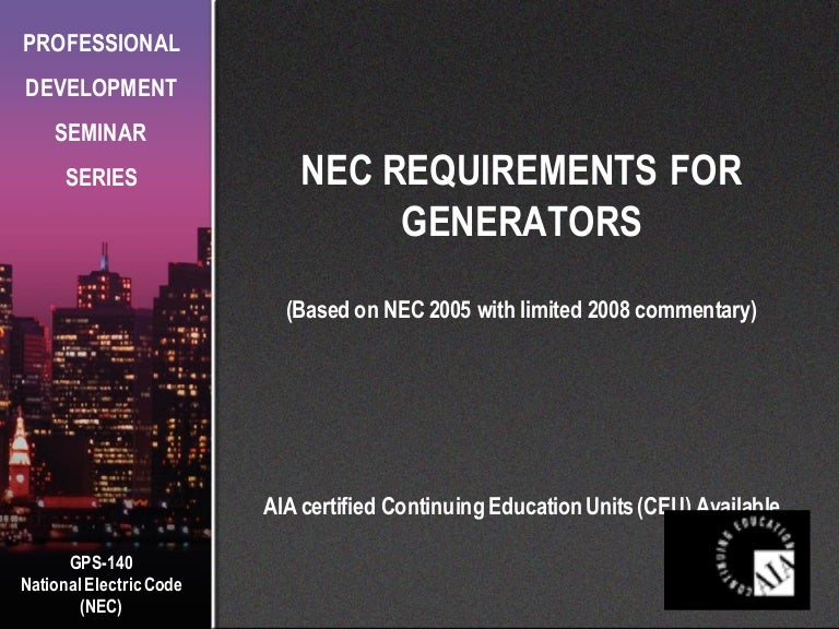 Nec emergency requirements