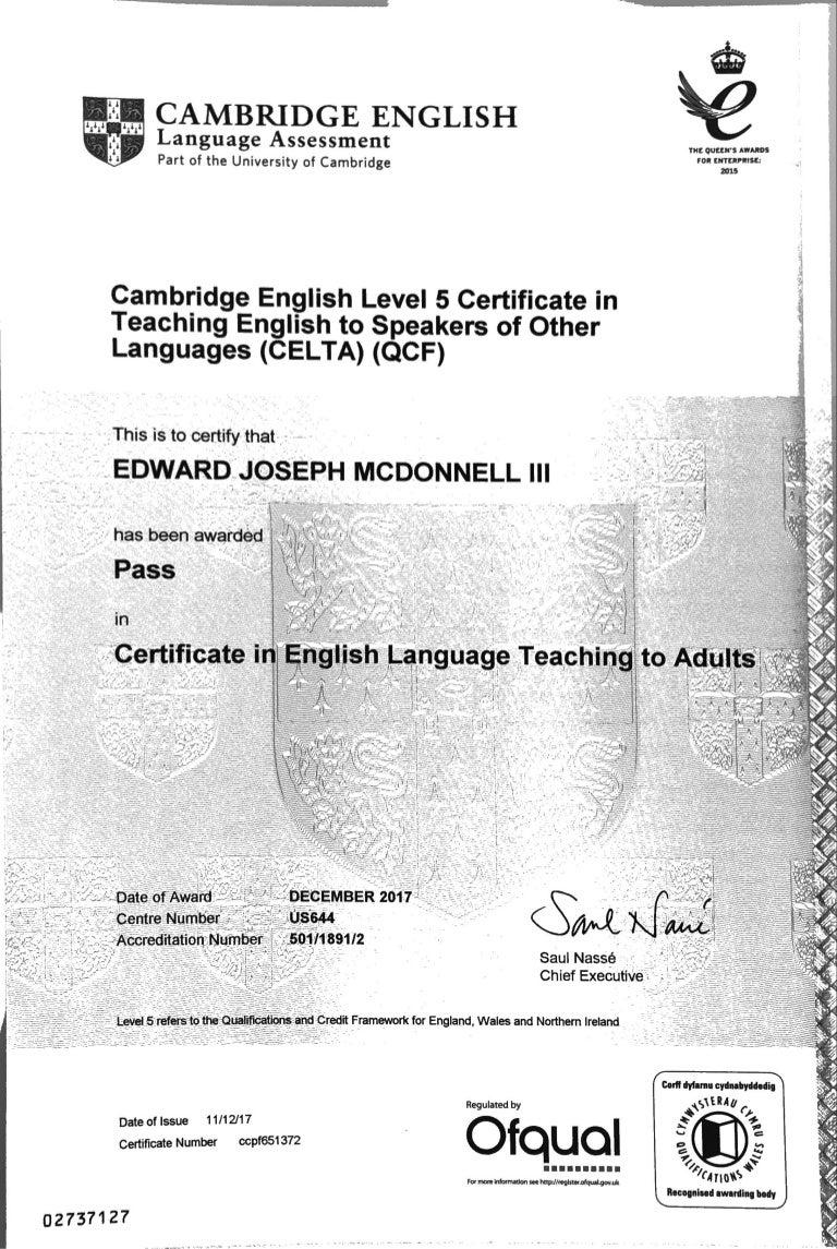 celta certification