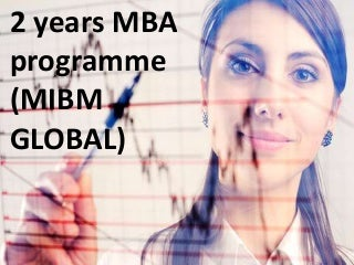 Need 2 years mba programme dial mibm global