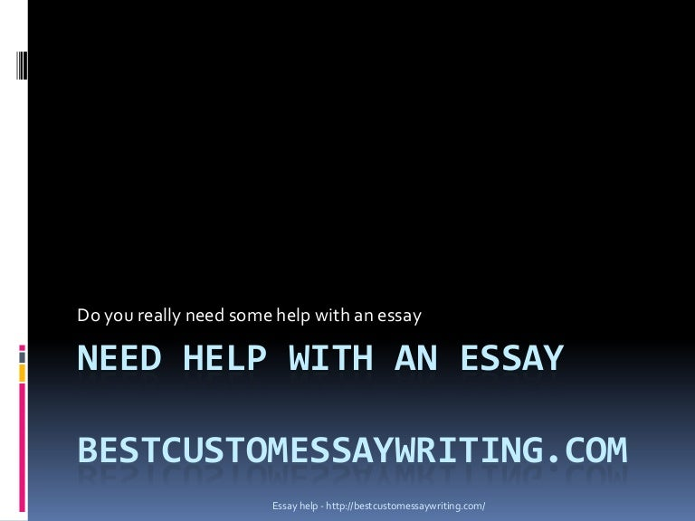 Need help in essay