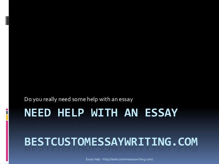 Need help on essay
