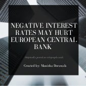 Negative Interest Rates May Hurt European Central Bank