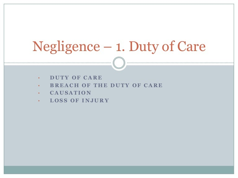 4 ds of negligence