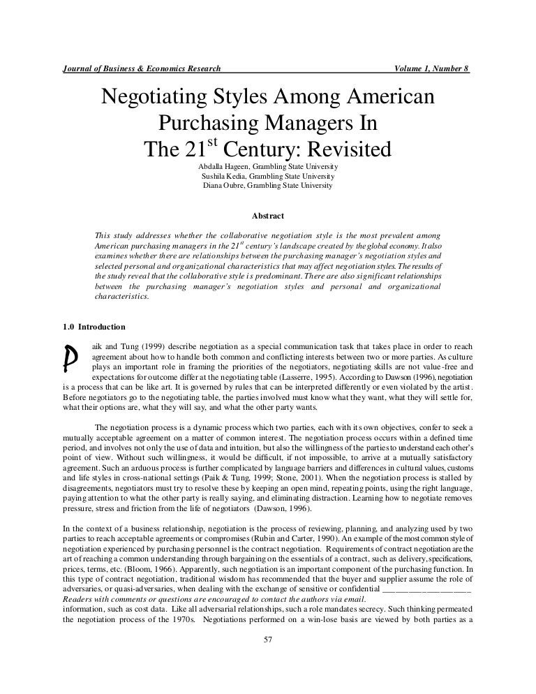Accommodating style of negotiation tactics