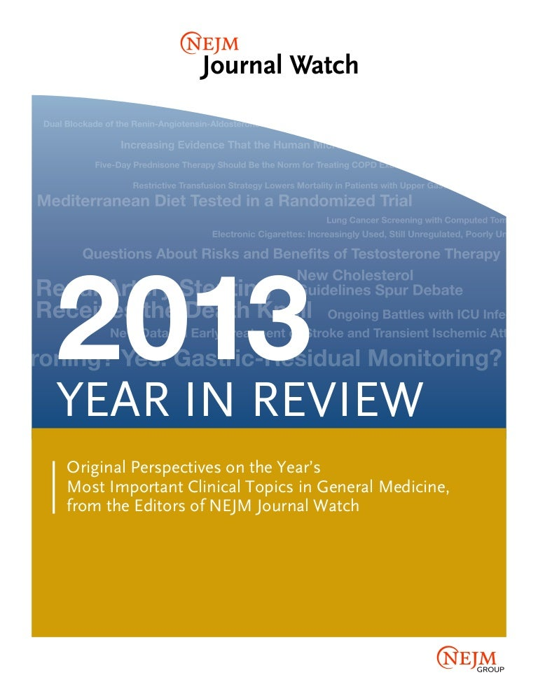 Nejm Year In Review 2013
