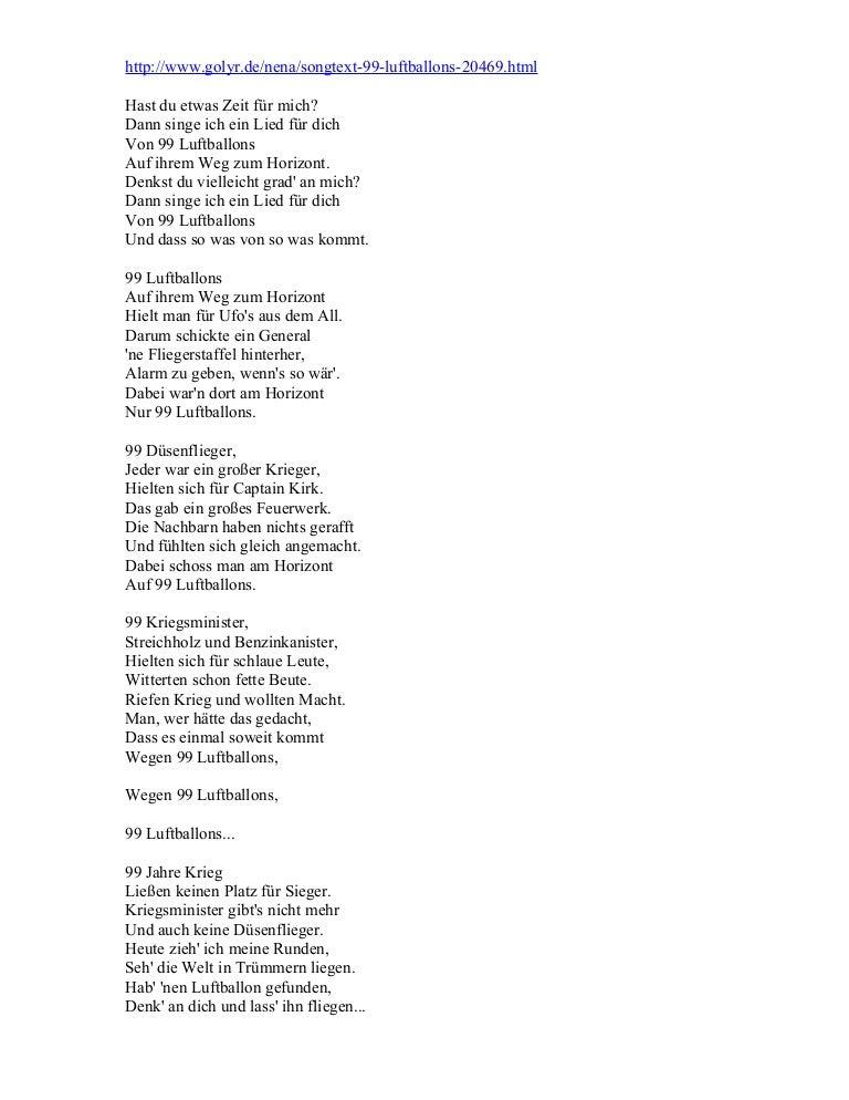 Nena Luftballons Text Jpg 768x994 Lyrics Resant 99