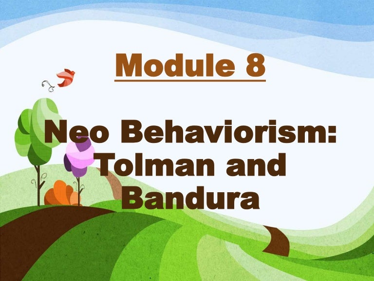 sample thesis related to tolman and bandura