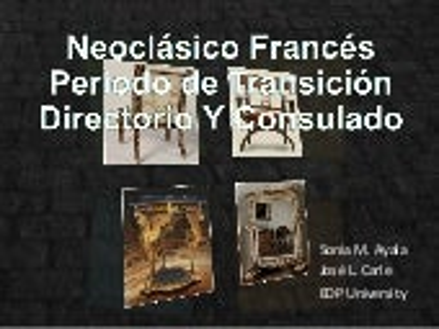 Mueble Directorio y consulado Francés
