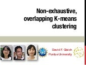 Non-exhaustive, Overlapping K-means