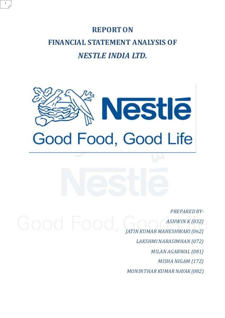 sample of management report for nestle Deployed in the industry, which requires at least 60% of a large consumer sample to prefer our nestlé product in a blind taste test against our main competitors secondly where relevant, it requires the product to offer an additional nutritional.