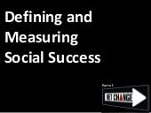 [Netchange] Defining And Measuring Social Success