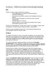 NetComs sosiale kommunikasjonsstrategi