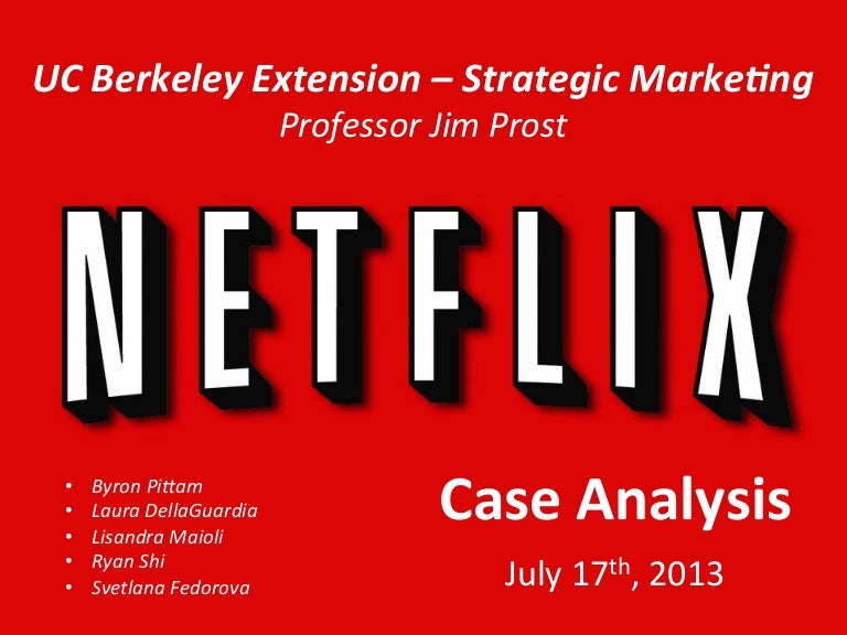 netflix case essay Academiaedu is a platform for academics to share research papers skip to main netflix case study uploaded by netflix's founder secured $30 million which.