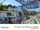 Use of Social Media in Disasters