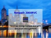 Netpath 2000RVC Receiver Voting Comparator with Simulcast