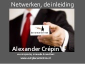 Netwerken workshop  Outplacement 2.0 deel 1