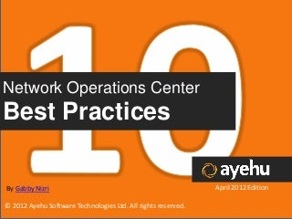Network Operation Center Best Practices