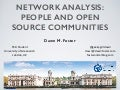 Network analysis: People and open source communities