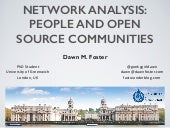 Network Analysis: People and Open Source Communities - LinuxCon Seattle and Dublin