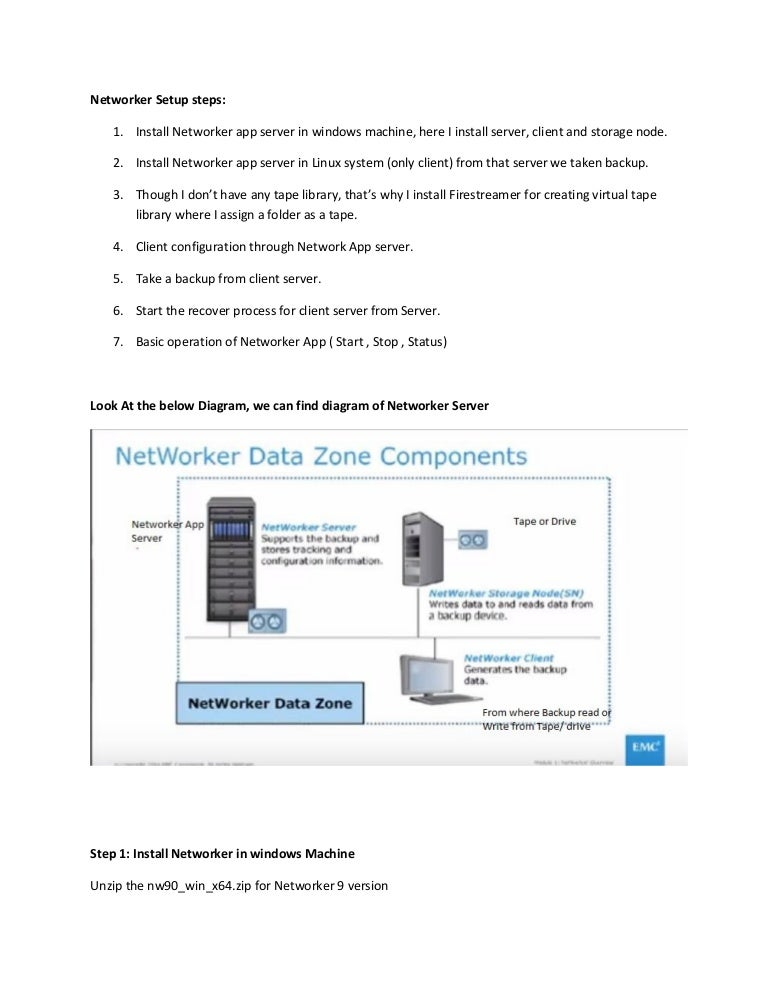 EMC Networker installation Document