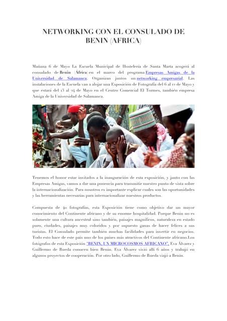 Networking con el consulado de Benin