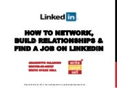 How to Network, Build Relationships & Find a Job on LinkedIn