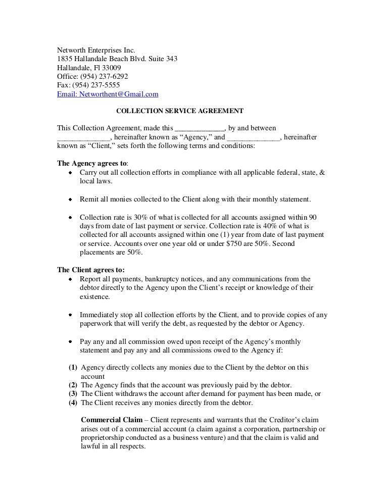 Networth Enterprises Inc Service Agreement