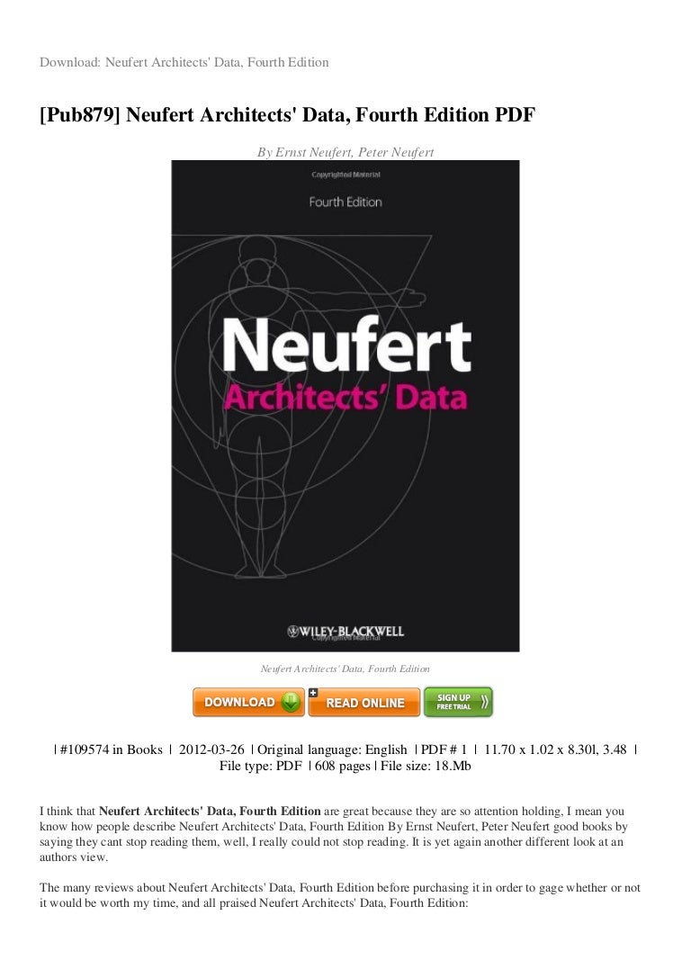 Neufert free download pdf english.